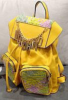 Рюкзак Moschino желтый