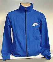 Мужская спортивная кофта на молнии, синего цвета