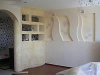 Перегородка из гипсокартона для зонирования комнаты
