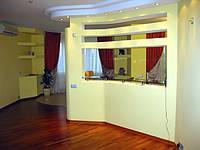 Перегородки кухни из гипсокартона