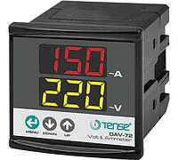 Мультиметр - электронный вольтметр + амперметр цифровой однофазный щитовой цена купить