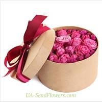 Цветы в коробке Романтический подарок