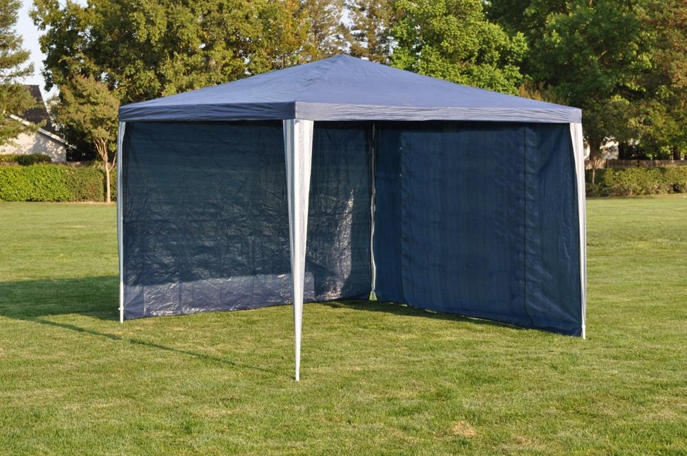 Садовый шатер павильон 3х3 с двумя стенками