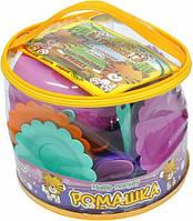 Набор игрушечной посуды Ромашка в сумке, 28 элементов