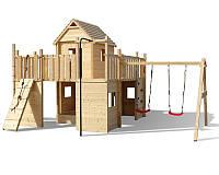 Деревянный домик-площадка под заказ №24