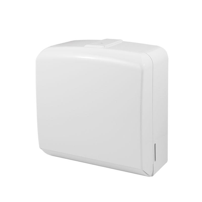 Раздатчик складных, бумажных полотенец, пластик 250-300  листов под ключ FD-528 белый - SanGrand в Днепре