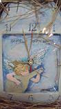 Часы керамические Музыкальный ангел размер 28*24, фото 2