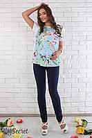 Летние брючки для беременных Jodie индиго, размер 46, фото 1