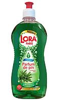 Жидкое средство-концентрат для мытья посуды Lora Paris, 500 мл (сосновый аромат)