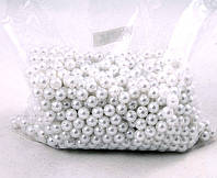 Жемчуг белый, качественное напыление (диаметр 1 см, 125 г)