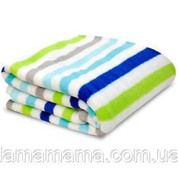 Теплый плед Blue Stripe от Little Starter 76х102 см