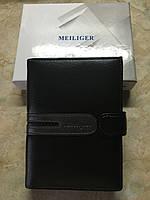 Многофункциональное мужское портмоне MEILIGER (паспорт, авто документы, доверенность) черный