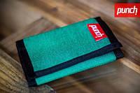 Кошелек PUNCH - Black/Green, кошелек интернет, стильный кошелек, молодежный кошелек