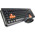 Клавиатура+мышь A4tech RV-1000A USB Профессиональный игровой компллект V-Track Wireless, black