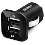 Автомоб. зарядное устройство SVEN C-103 от прикуривателя, 2 порта USB (12v -5v, 1A)