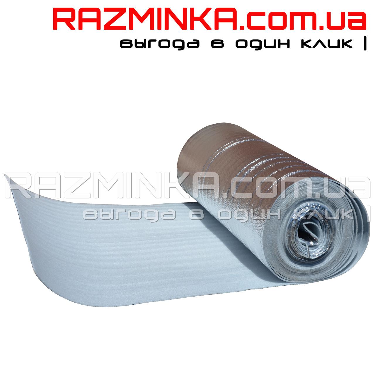 Полотно ппэ ламинированное металлизированной пленкой 5мм (50м2)
