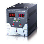 Стабилизатор Gemix GDX-8000, 5600Вт, два вольтметра, евророзетка