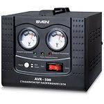 Стабилизатор SVEN AVR-500, 500VA,6-ти ступенчатый, два вольтметра,1евророзетки