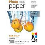Фотобумага ColorWay глянцевая, 260г/м2, 100х150 мм, 50л (PG2600504R)