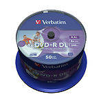 DVD+R Verbatim 8,5Gb Double Layer 8x Cake 50 pcs Printable цена за шт. (43703)