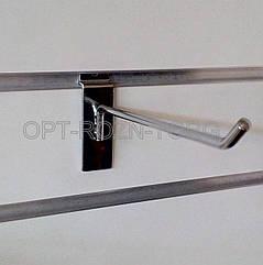 Крючок хромированный в экономпанель 10 см. (6 мм)