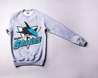Свитшот Liberty - SanJose Sharks, Grey, одежда, обувь