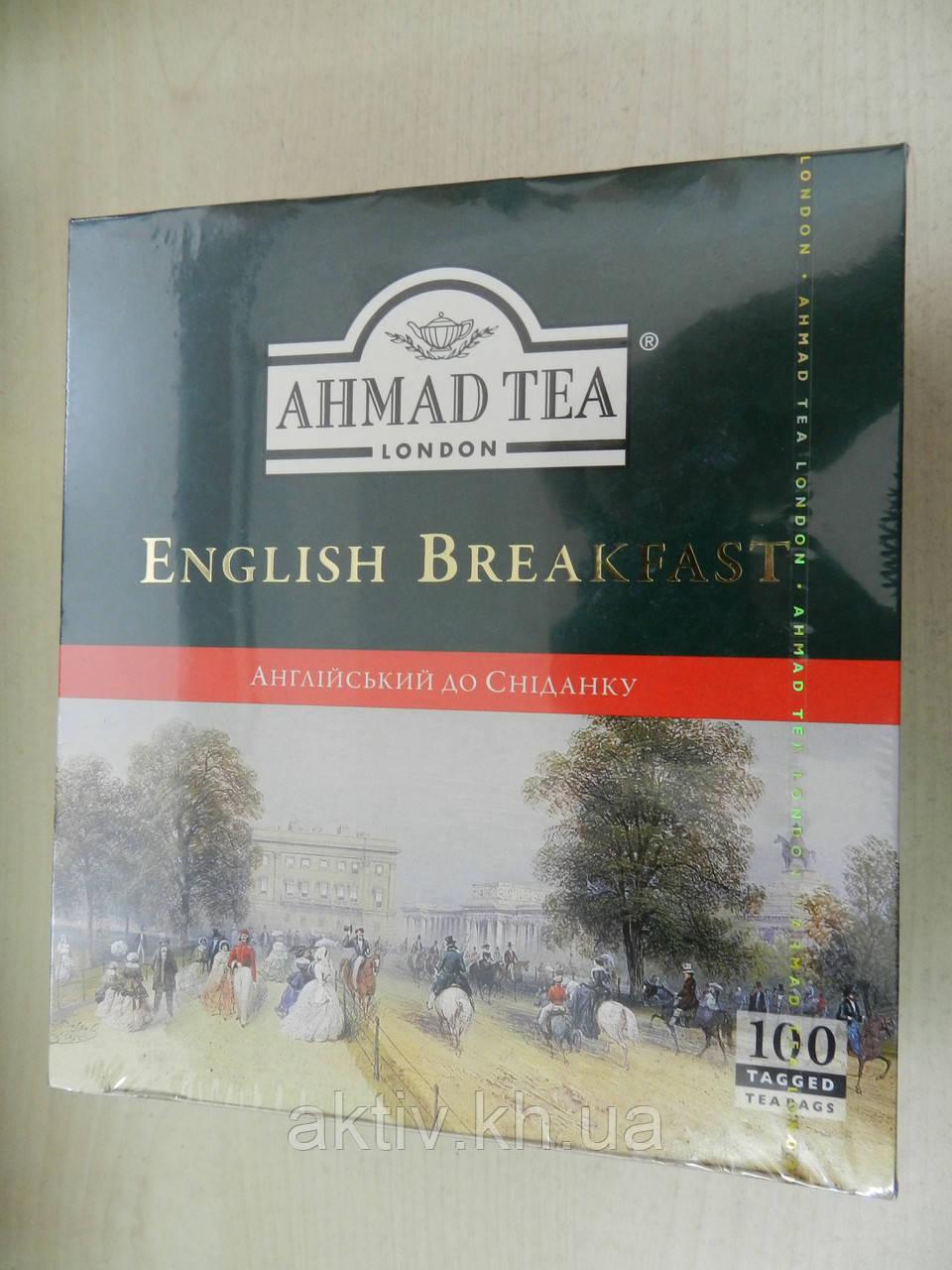 Чай Ахмад Англійський сніданок 100 пакетиків