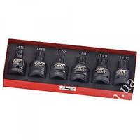 Набор головок ударных TORX T70,T80,T90,T100, SPLINE M16,M18 3/4 6 ед. JTC J606T JTC