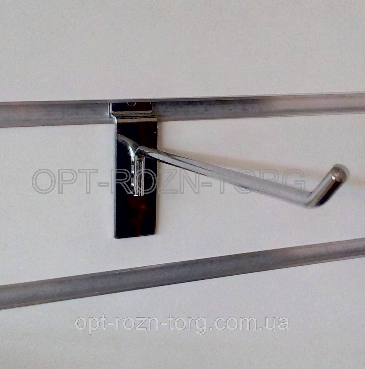 Крючок хромированный в экопанель 5 см, толщ. 6 мм.