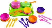 Набор игрушечной посуды столовый Ромашка 25 элементов