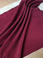 Натуральная кожа Спилок, цвет бордовый (темно-красный)