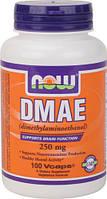 Для мозга и памяти ДМАЭ (DMAE-Dimethylaminoethanol) 250 мг 100 капсул