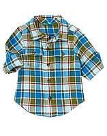 Фланелевая рубашка. 12-18, 18-24 месяца