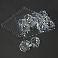 Пластиковый органайзер для рукоделия (12 коробочек)