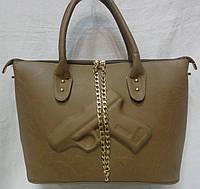 Стильная  женская сумка . Бежевый