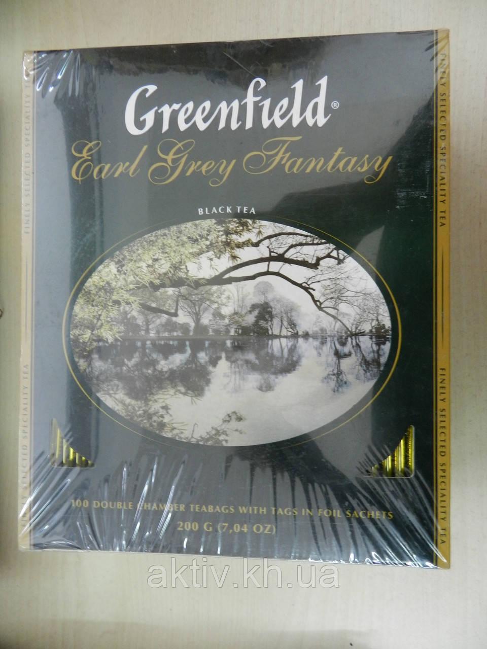 Чай Гринфилд с бергамотом 100 пакетиков