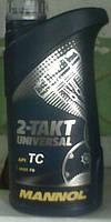 Минеральное масло для 2-тактных двигателей  Mannol 2-Takt Universal 1L