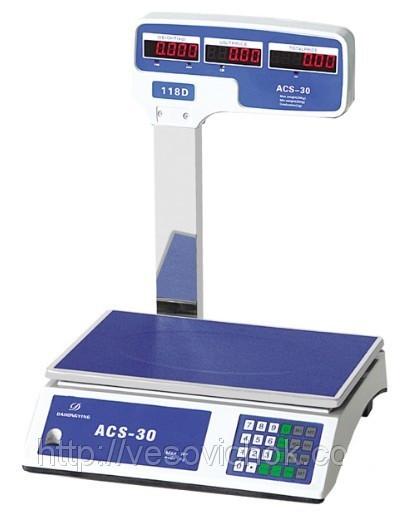 Ваги електронні торгові ACS-32 718 D