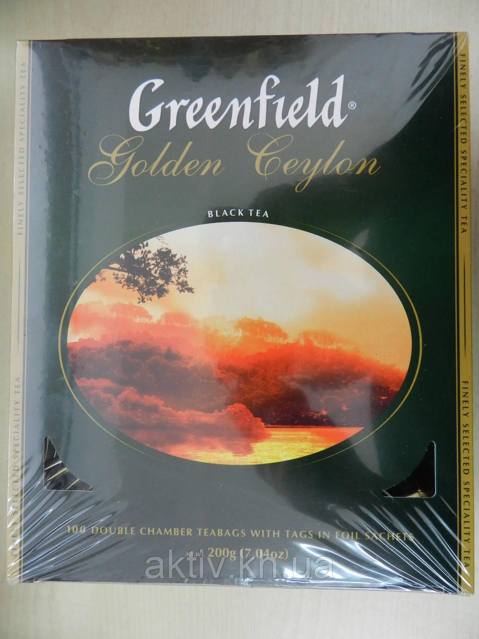 Чай Гринфилд Golden Ceylon черный 100 пакетиков