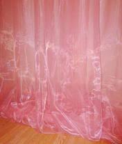Тюль готовая, органза Розовая 6 метров, фото 3