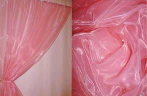 Тюль готовая, органза Розовая 6 метров, фото 2