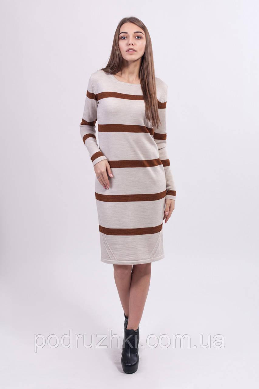 5b160debf11 Платье теплое вязаное с длинным рукавом. - Интернет-магазин