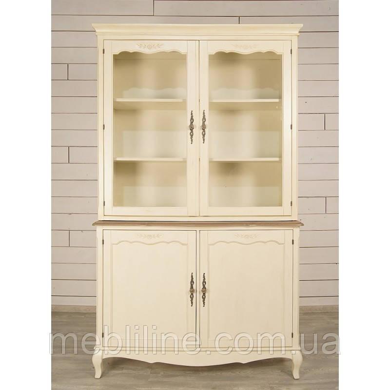 шкаф буфет из массива леонтина большой деревянные шкаф и комоды от производителя мебельная фабрика Mebliline киев украина