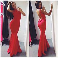 Женское длинное платье спина голая 901