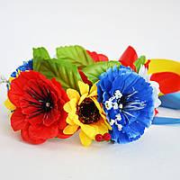 """Венок на обруче """"Цветы Украины"""""""