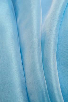 Тюль готовая, органза Голубая 6 метров, фото 2
