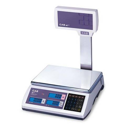 Электронные торговые весы 15 кг CAS ER-Plus EU