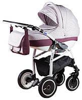 Детская универсальная коляска 2 в 1 ADAMEX Active Len (Розовый(цветочки)-бордовый 232W)