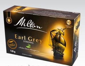Чай Milton Earl Grey strong в пакетиках 80 штук (Польша) Милтон