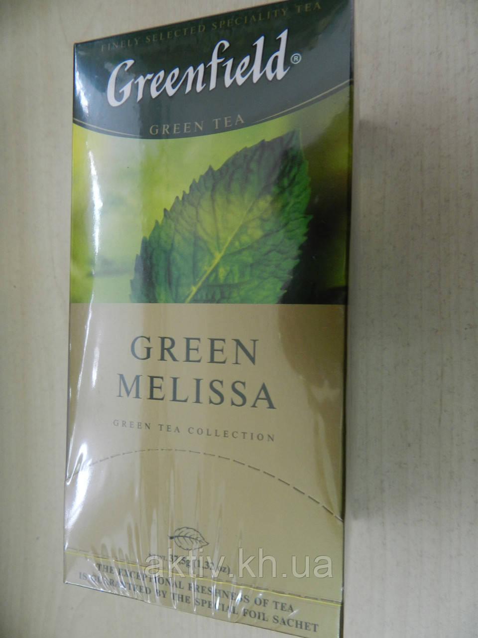 Чай Грінфілд зелений з мелісою